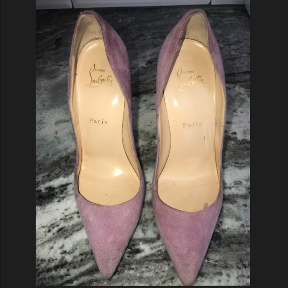 Louboutin so kate pink / purple suede